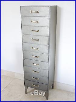 vintage metal storage cabinet. 10 Drawer Chest Of Drawers Tall Boy Industrial Vintage Metal Storage Cabinet  New Vintage Metal Storage Cabinet 9