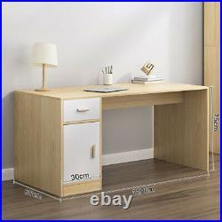 120cm Large Computer Desk PC Table Storage Drawer Door Home Worksation Gaming