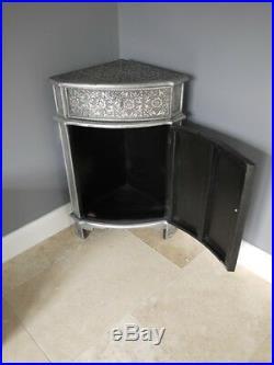 1 Door 1 Drawer Embossed Corner Cabinet French Vintage Side Storage Cupboard New