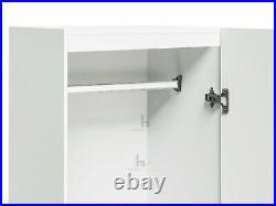 1 Door Wardrobe Cupboard White Storage Cabinet Bedroom Furniture Nursery Kids
