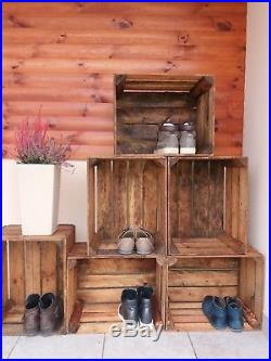 2,3,4,6,12,18,24 wooden crates fruit apple boxes vintage home decor Cleaned