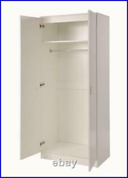 2 Piece Bedroom Furniture Set Wardrobe Chest Of 3 Drawers Storage Cabinet White
