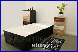 2ft6 3ft 4ft 4ft6 5ft Divan Bed Base Cream Black Storage Headboard Mattress. SALE