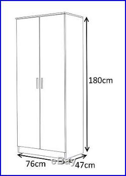 3 Pc High Gloss Bedroom Furniture Set 6 Door = Corner + 2 Door + 2 Door Wardrobe