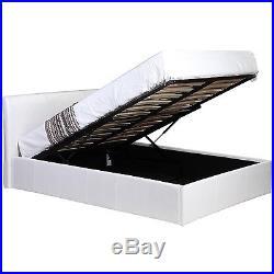 3 Piece High Gloss Bedroom Furniture Set + 4ft6 Ottoman Storage Bed + Mattress