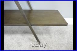 3 Tier Industrial Display Storage Shelves Freestanding Gold Metal Home Office