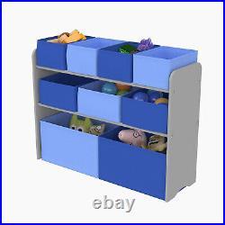 3 Tier Storage Shelf Unit Kids Children Bedroom Nursery Boxes Drawers Toy Box