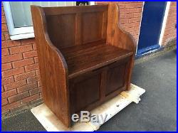 3 ft Rustic Plank Style Monks Bench/Settle/Pew With Storage (MADE TO ANY SIZE)