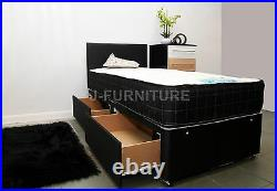 3ft Single Bed With Memory Foam Mattress Base Colour Storage Headboard Optional