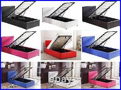 3ft Single PU Leather Ottoman Storage Bed in 5 Colours Mattress Options