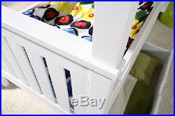 3ft UK SINGLE WOODEN CHILDREN BUNK BEDS WITH MATTRESSES AND STORAGE DRAWERS