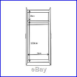 4 Piece High Gloss Bedroom Furniture Set Wardrobe Chest 2x Bedside White/White