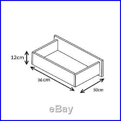 4 Piece High Gloss Mirrored Bedroom Set Wardrobe Chest 2x Bedside Black / Walnut