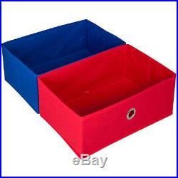 4 Slings 2 Box Children Books & Toys Storage Rack Wooden Bedroom Playroom Kids