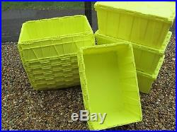 50 X Large Boxes, Tote Box, Container, StackableRemoval Packing Storage Crate