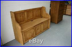 7 ft Rustic Plank Style Monks Bench/Settle/Pew With Storage (MADE TO ANY SIZE)