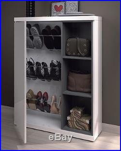 Abrielle 1 Door Hallway Unit Shoe Rack Cabinet with 3 Shelves + Mirror & Abrielle 1 Door Hallway Unit Shoe Rack Cabinet with 3 Shelves + ...