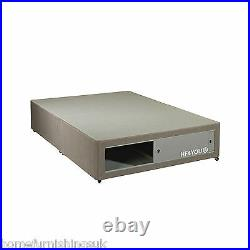 Affordable 5FT Kingsize Charcoal/Fawn Divan Bed Base + Free End Slider Storage