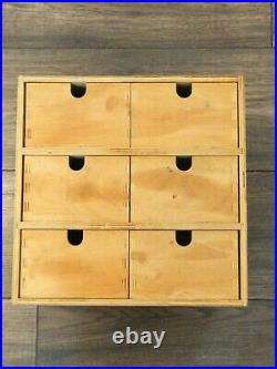 Antique 6 Drawer Chest Small- / Top quality wood Storage Holder Top Condition