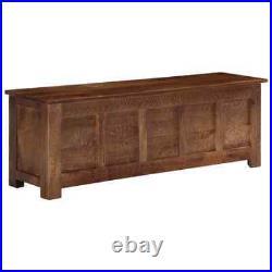 Antique Coffee Table Storage Treasure Chest Large Vintage Trunk Blanket Box Wood