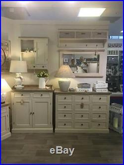 Antique Shabby Chic Mushroom Grey Large Dresser Storage Display Cabinet (h16249)