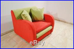 Armchair ALICE I Single Sleeper Small Sofa Bed Kids with Storage sqzaathome09