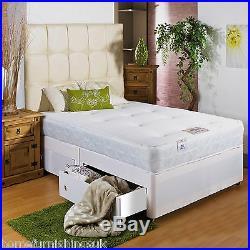 Brand New Memory Foam Divan Bed With Sprung Memory Foam Mattress All Sizes