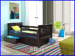 BUNK BEDS WENGE 3ft WOODEN CHILDRENBEDS WITH MATTRESSES AND STORAGE DRAWERS