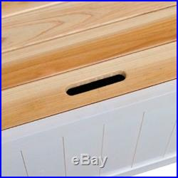 B#vidaXL Wooden Storage Bench White Bench Seat Wooden Seat Home Chair with Armre