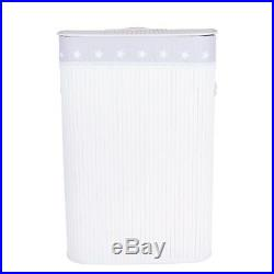 Bamboo Wicker Foldable Laundry Basket Bag Bathroom Storage Toy Collection Box