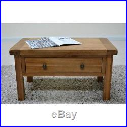 Beaufort Oak Coffee Table with storage Drawers / Living Room / Solid hardwood