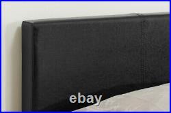 Berlin Ottoman Storage Bed By Birlea Black Faux Leather 3ft Single 90cm