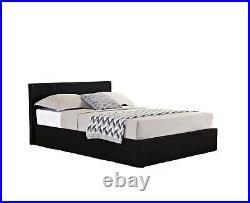 Berlin Ottoman Storage Bed by Birlea Black Faux Leather 4ft6 Double 135cm