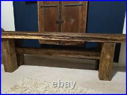Bespoke Handmade Rustic Wooden Reclaimed Antique Oak Vintage Bench Hall Storage