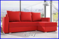 Best Corner Sofa Bed Storage Modern Functional Quality Fabric L-Shape Sleeping