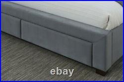 Birlea Hope 4 Drawer Winged Grey Fabric Storage Bed 4ft6 Double & 5ft Kingsize