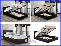 Birlea Ottoman Bed Gas Lift Up Storage Beds All Sizes Black or Brown NEW