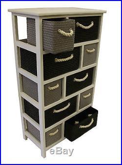 Black Grey White Large Storage Unit