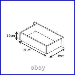 Black High Gloss & Walnut Wardrobe + Chest + Bedside 3 Piece Bedroom Set