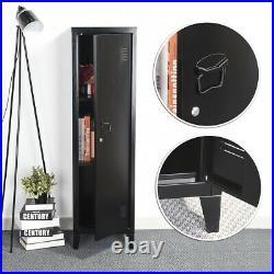 Black Office File Filing Cabinet Gym Staff Locke Storage Wardrobe with Shelves