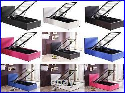 Boston 3ft Single Ottoman Storage Bed Black, Blue, Brown, Pink, Red or White