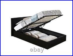 Caspian Ottoman Bed Alligator Gas Lift Up Storage Black 3FT Single