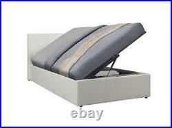 Caspian Ottoman Bed Alligator Side Lift Storage White 3FT Single
