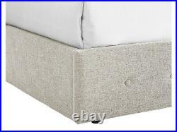 Chanel Fabric Ottoman Storage Bed Cream 5ft Kingsize