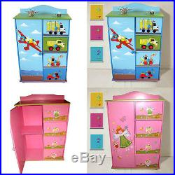 Children Furniture Kids Girls/boys Chest Of Drawers Storage Cabinet Wardrobe