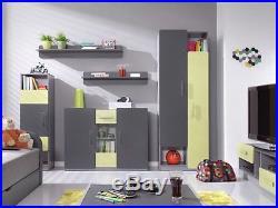 Children Kids Bedroom Furniture Collection LIDO Grey / Green