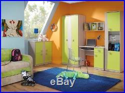 Children Kids Bedroom Furniture Tenus 4 Set Elements Green Blue Heather Orange Children S Bedroom Storage
