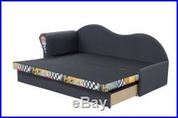 Children Kids Bedroom SOFA BED Upholstered Wersalka kanapa big storage