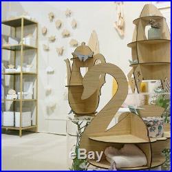Children Kids Wooden Bookshelf Shelves Storage Rack for Bedroom Play Room Decor
