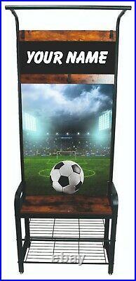 Children's Personalised Sports Locker Furniture. Bedroom organiser Storage Bench